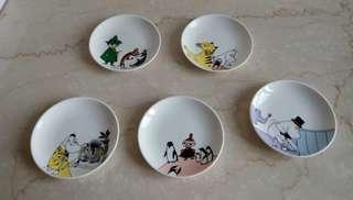 🚚 «全新» 日本嚕嚕咪/姆明陶瓷碟盤組 (5入一組)