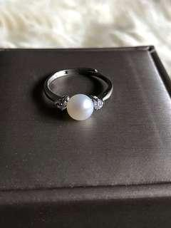 S925 Sterling Silver Freshwater Pearl Ring 6mm