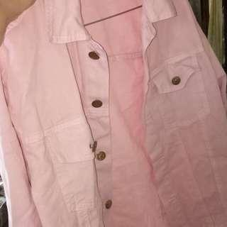 Oversize jeans baby pink