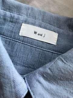 W & J blue shirt