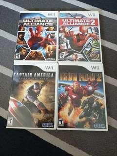 🚚 Wii games Marvel bundle pack/ Captain America/ IRON MAN/ Ultimate alliance