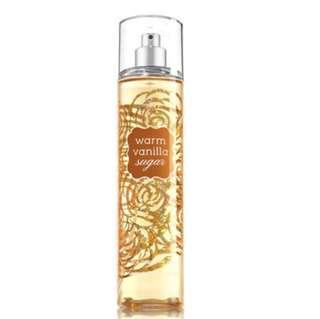 bath & body works warm vanilla sugar fragrance mist ; 8 fl oz / 236ml
