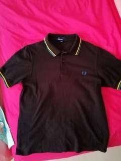 Fred perry polo (blue and yellow tip)