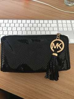 Michael Kors black and gold wallet clutch pouch