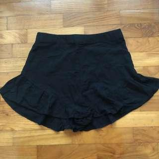 factorie black ruffle shorts