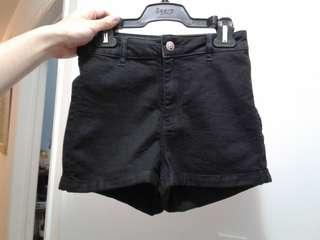 H&M Black high waisted shorts