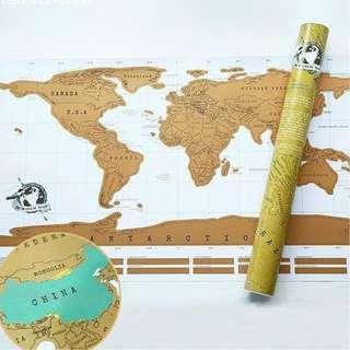ReceSky Scratch Map刮刮卡世界地圖