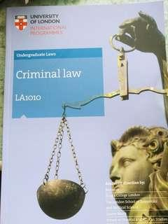 🚚 Criminal Law Subject Guide (UOL)