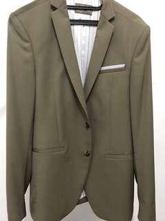 Zara Man Khaki Suit Blazer
