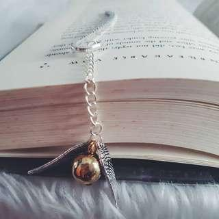 Harry Potter Snitch Steel Bookmark