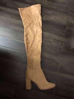 Camel Knee High Boots