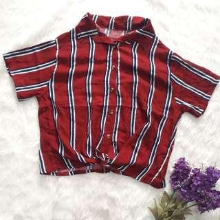 Red twisted Buttondown