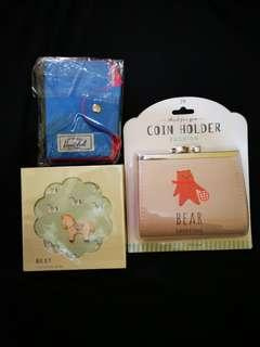 Coin purse + cardholder + notepad