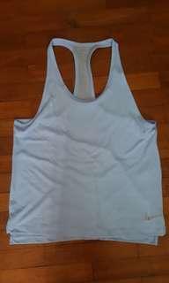 Nike baby blue dri fit running sleeveless top, medium M size