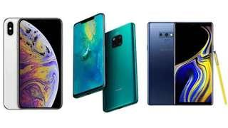 Buy back iphone xs max Samsung huawei brand new