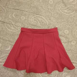 Buy 1 Get 1 Free Pink Skirt + Pink Batwing Top