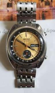 中古 Seiko 精工 6139 單盆計時錶連原裝鋼帶