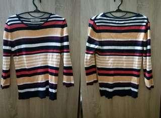 zara knit stripe sweater