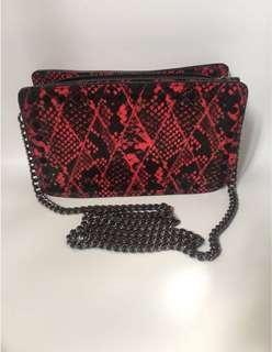 ZARA sling bag snake skin leather - kulit ular #bershka #zara #pull&bear #stradivarius #h&m