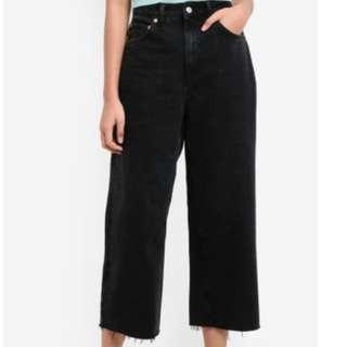 TOPSHOP Black Wide Leg Jeans