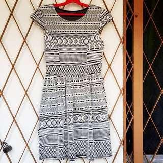Monochrome Dress // Topshop
