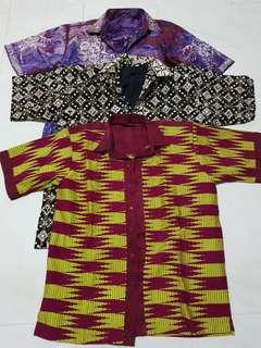 Batik Shirt for Men L