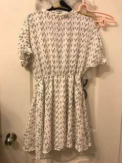 🚚 韓貨短袖露背洋裝