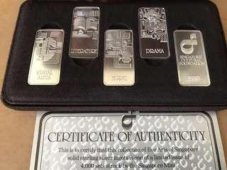 🚚 Singapore Cultural Foundation 5 Arts Silver ingot bar