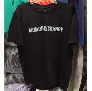 Armani men black Tee XL 男裝黑tee #flashthurs