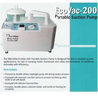 Merridian Medic Pump EcoVac-200 (Portable Phlegm Suction Unit)
