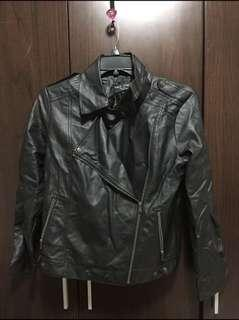 Black Leather Ladies Jacket