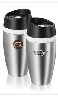 🚚 Mini Cooper travel mug stainless steel Nescafe dolce gusto