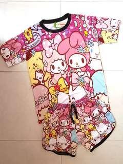 Sanrio Hello Kitty, My Melody Cartoon Dryfit Set