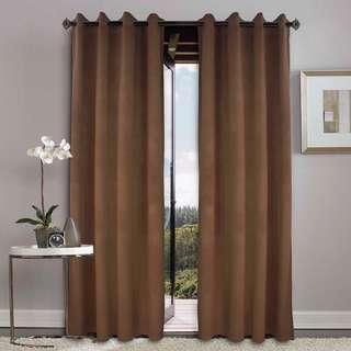 🌸2pcs sheer curtains Dark Brown🌸