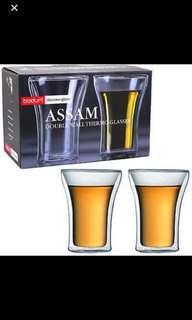 Bodum Assam double wall glass 2pc