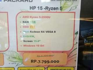 Dijual Laptop HP 15 Ryzen 5 Bisa Cicilan Tanpa Kartu Kredit