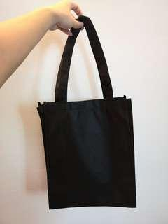 A4 size recycle non woven beg in black