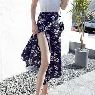 🔥(3 Design) Floral Bohemian Wrapped Midi Skirt
