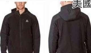 Reebok 男裝運動外套 黑色