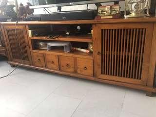 🚚 Solid Teak Wood TV Console/Cabinet
