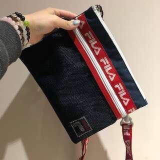 🚚 🇯🇵沖繩🇯🇵購入 FILA 雙層 斜背包 小包包