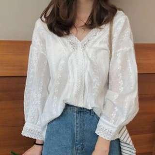 3/4 sleeve chiffon blouse