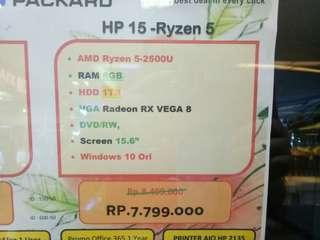 Dijual Laptop HP 15 Ryzen 3 Bisa Cicilan Tanpa Kartu Kredit