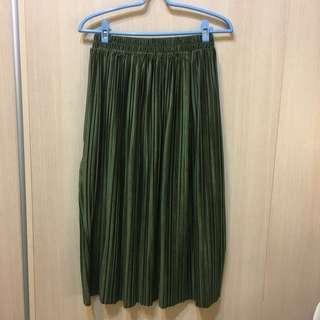 🚚 墨綠色百褶裙