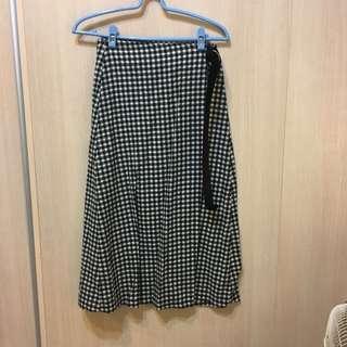 🚚 PAZZO 格紋綁帶長裙