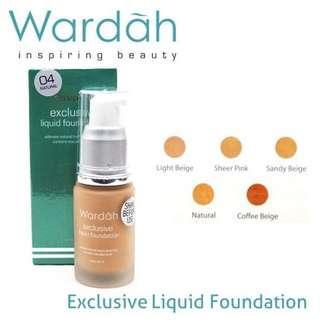 ORIGINAL Wardah Exclusive Liquid Foundation SPF 30