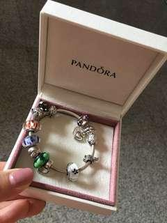 Pandora (bracelet complete with 11 charms!)