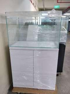 Crystal Tank with Cabinet 36x20x24 inches
