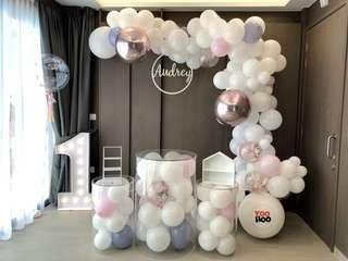 Wedding Recep | Baby Shower | 100 days | 1 year old | Party Ideas | Themed Styling | Props Rental | Dessert Table | Feature Wall