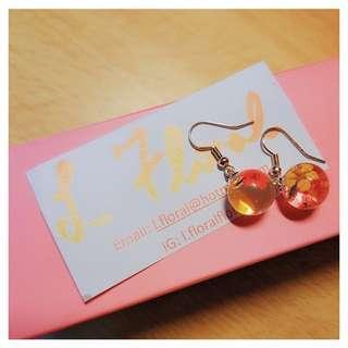 手作花花耳環 🌸 Handmade floral earrings 🌸